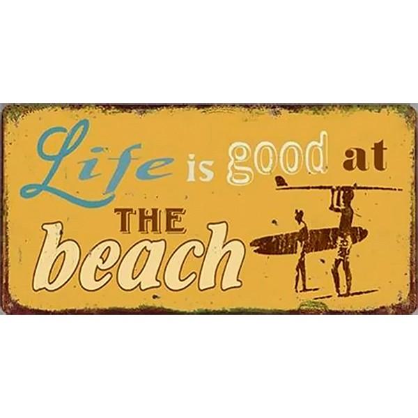Magnet/Kylskåpsmagnet Life is good at the beach