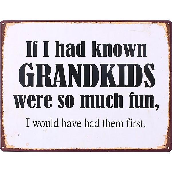 Plåtskylt Grandkids