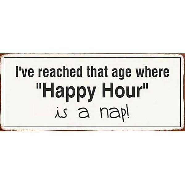 Plåtskylt Happy Hour
