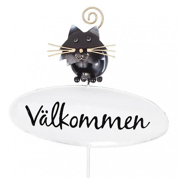 Välkommenskylt Katt - Svart