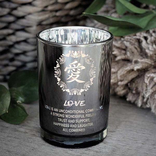 Majas Candle Holder Symbols Love - Silver