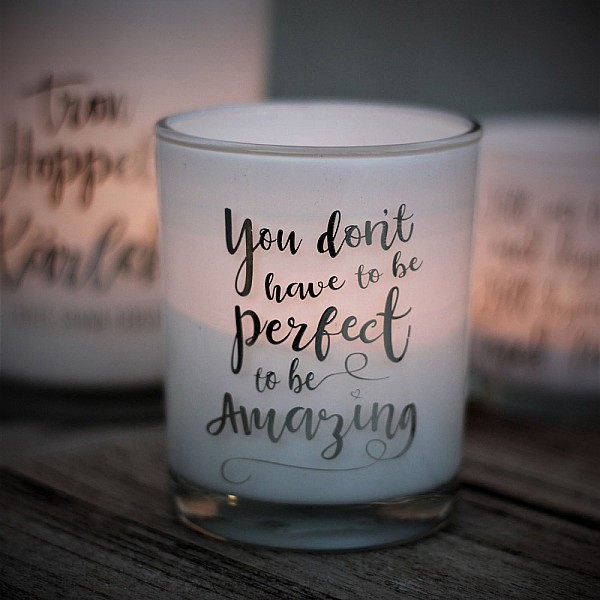Majas Candle Holder You don't have to be perfect to be Amazing