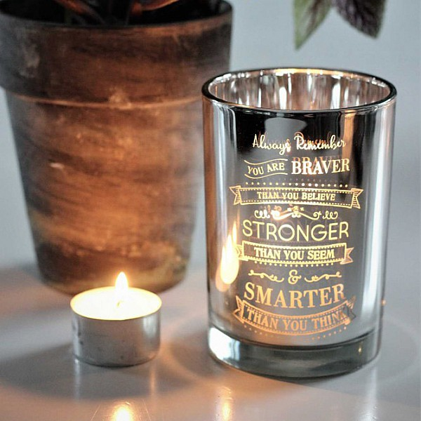 Majas Candle Holder Stronger - Silver