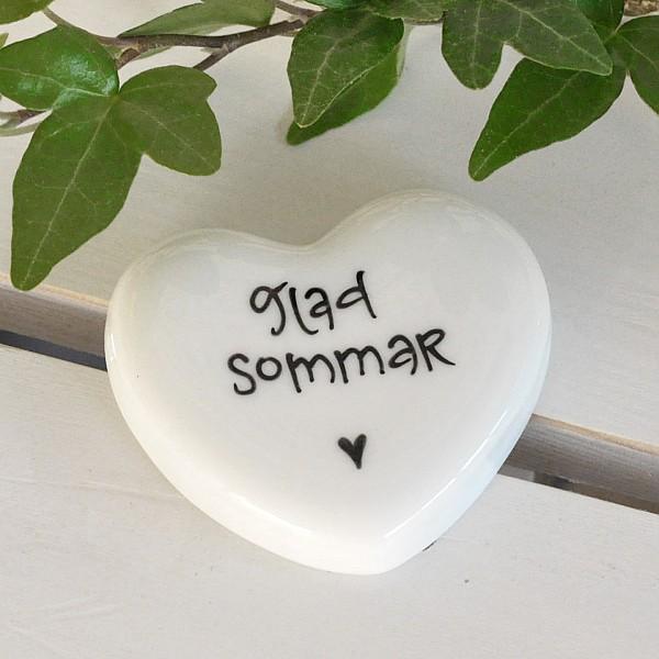 Porslinshjärta Glad Sommar - Liten