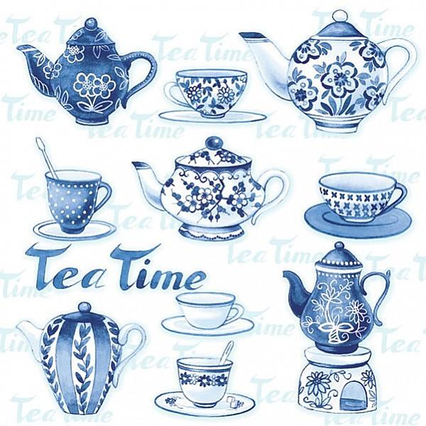 Servetter Tea Moments Blue