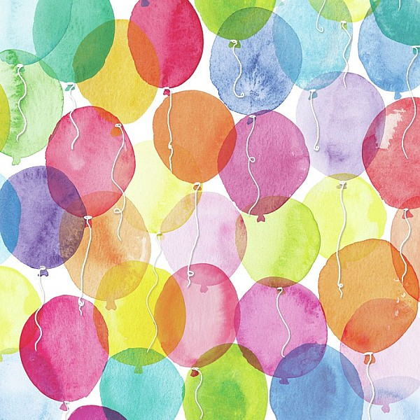 Servetter Aquarell Balloons
