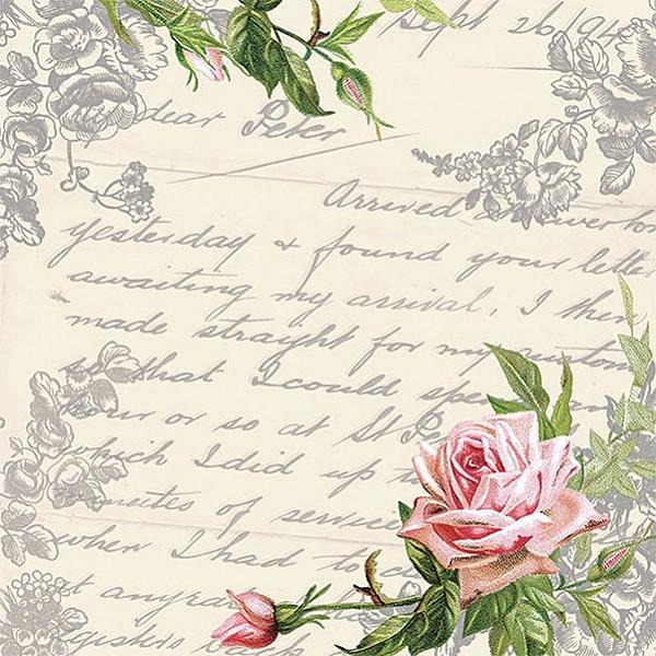 Napkins Love Letter