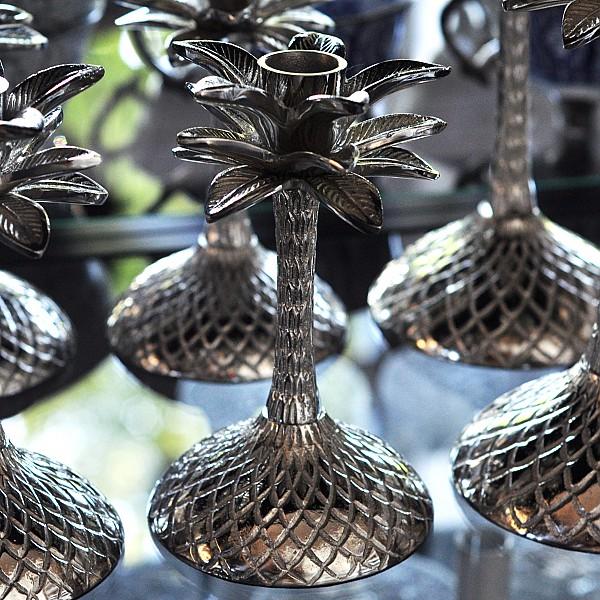 Ljusstake Palm Silver - Liten