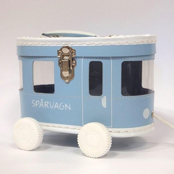Spårvagnsväska - Ljusblå