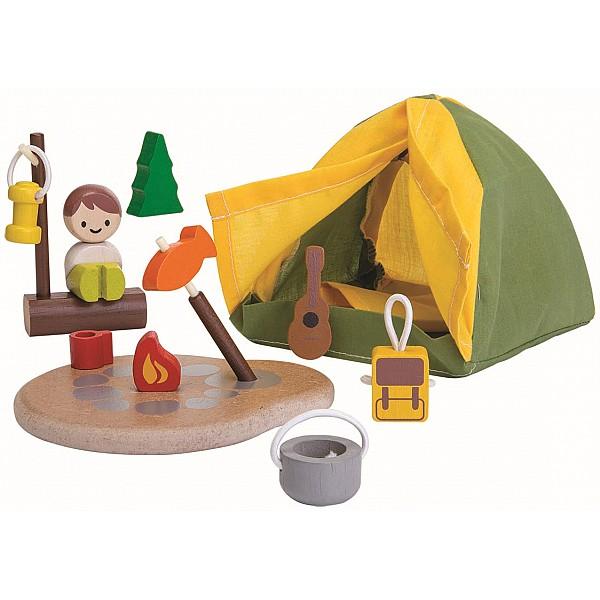 Campingset i trä