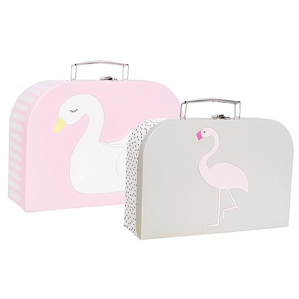 JaBaDaBaDo Pappväska Svan & Flamingo - 2-pack