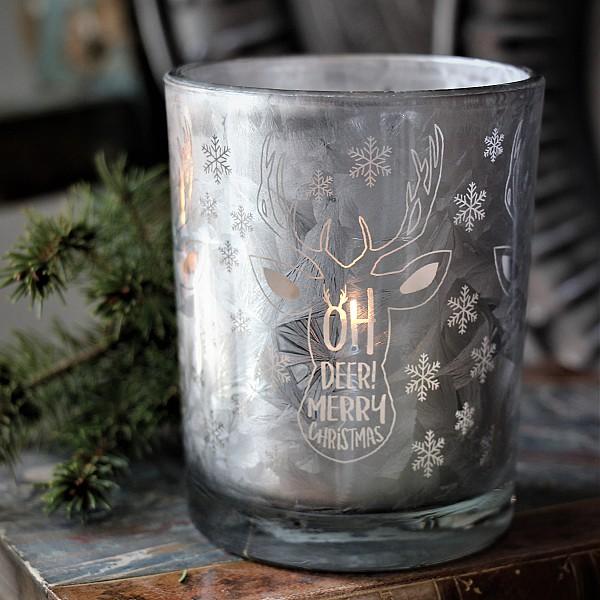 Majas Candle Holder Oh Deer - Stamped Silver