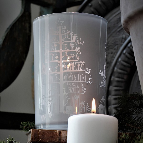 Majas Candle Holder Calendar Tree - White