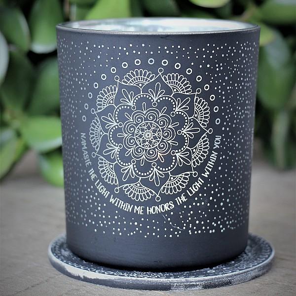 Majas Lykta Namaste Mandala - Svart/Silver