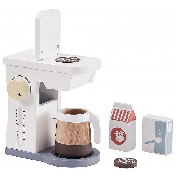 Kids Concept Kaffemaskin - Vit/Blå