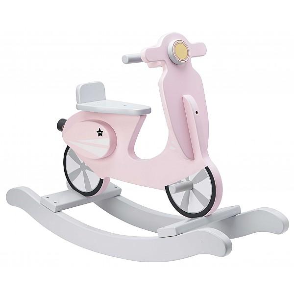 Kids Concept Gungscooter - Rosa/Grå