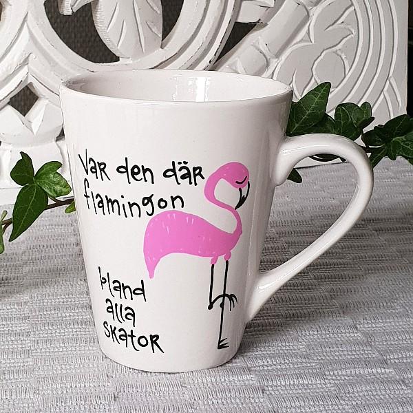 Mugg Var den där flamingon bland alla skator