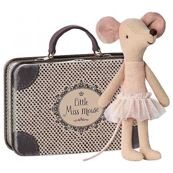 Maileg Mus Storasyster Ballerina i resväska