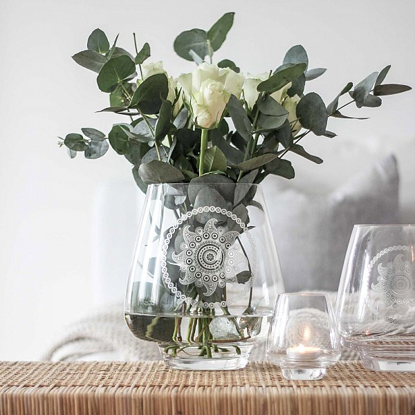 Majas Glasvas Paisley Flower - Stor