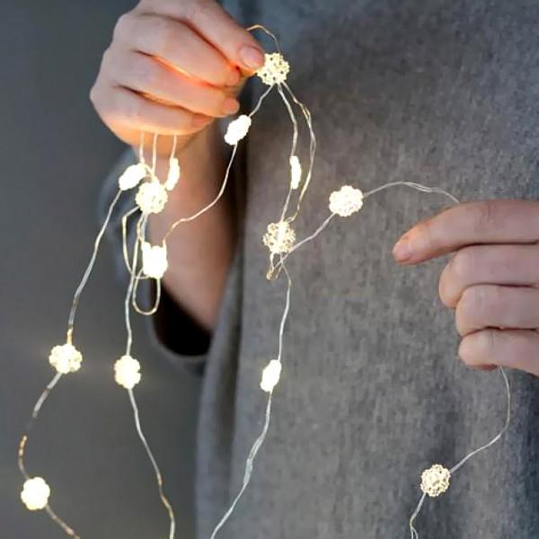 Ljusslinga Ljusby LED - Snöflinga