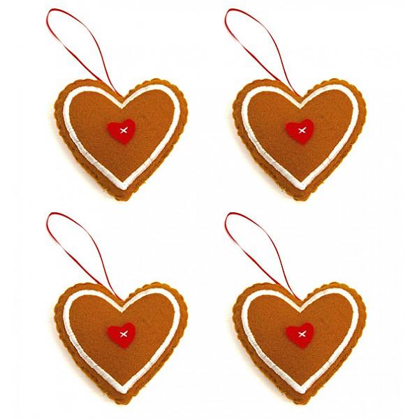Pepparkakshjärtan 4 st