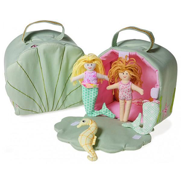 Sjöjungfru-set med snäckformad väska