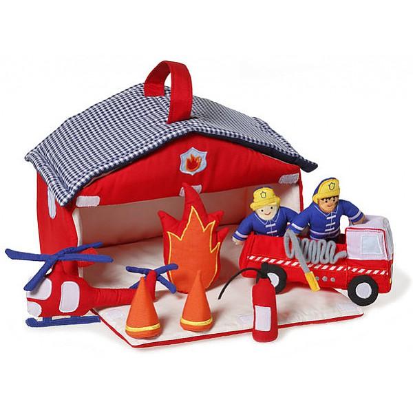 Brandstation i tyg