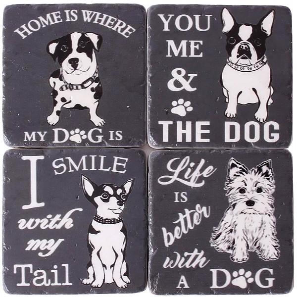 Glasunderlägg Små hundar