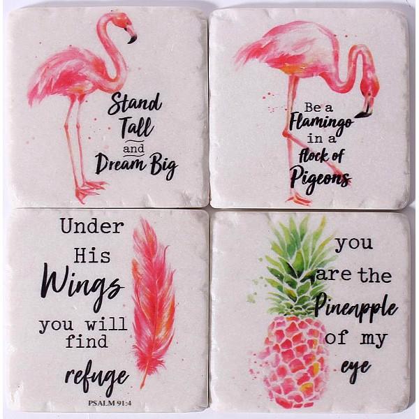 Coasters Flamingo Pineapple