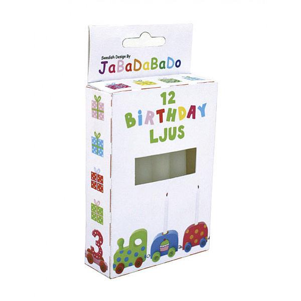 JaBaDaBaDo Ljus till födelsedagståg - Vit
