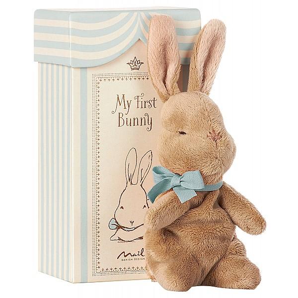 Maileg Kanin My First Bunny in Box - Blå