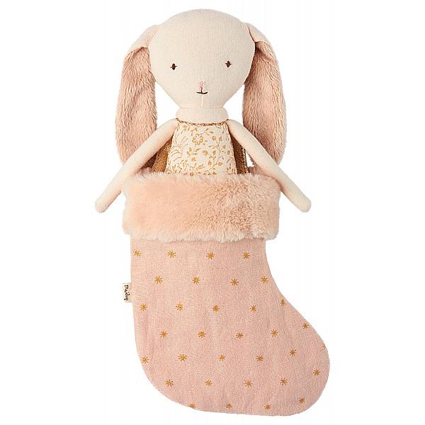 Maileg Kanin Bunny Ängel i Julstrumpa - Rosa
