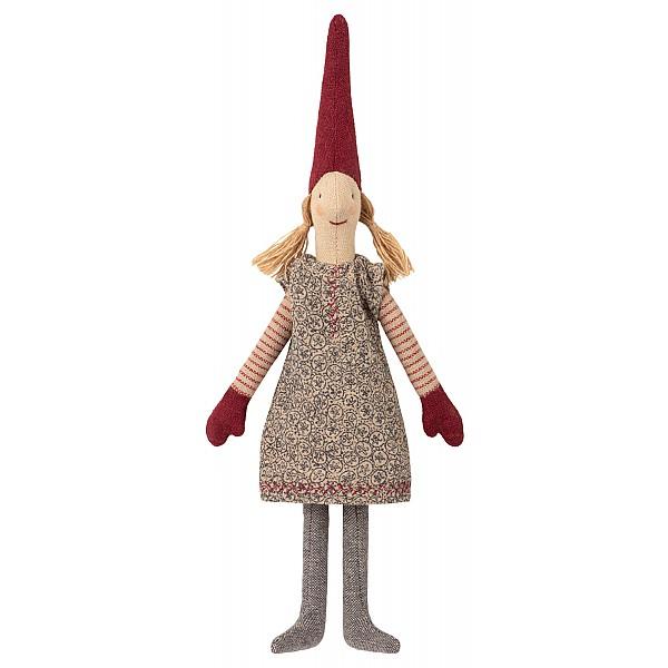 Maileg Tomte Climbing Pixy - Flicka Blommig klänning