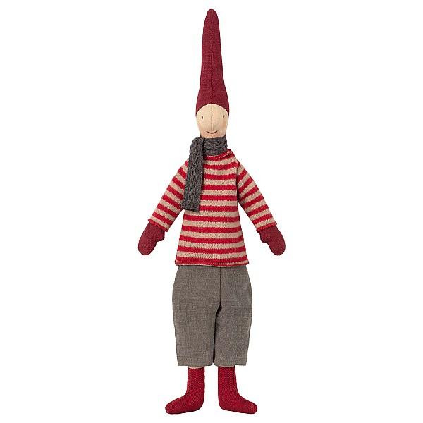 Maileg Tomte Mini Pixy - Pojke Röd tröja