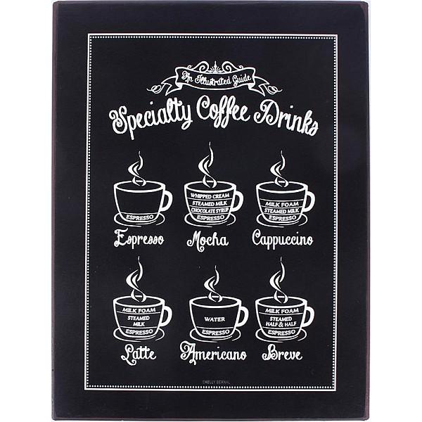 Plåtskylt Specialty coffee drinks