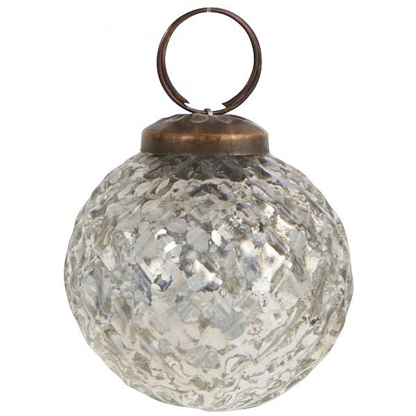 Julgranskula Harlekin Silver - Liten