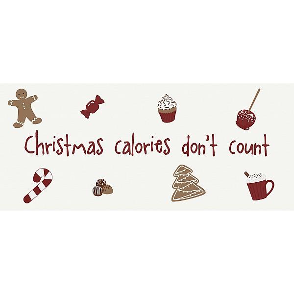 Plåtskylt Christmas calories don't count