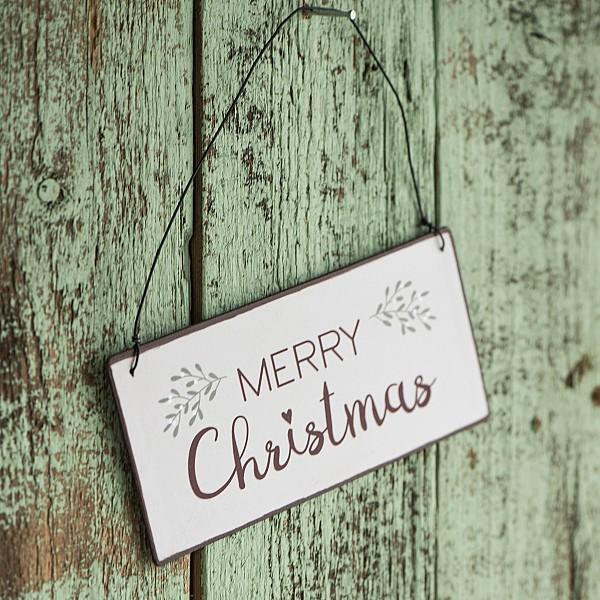 Plåtskylt Merry Christmas
