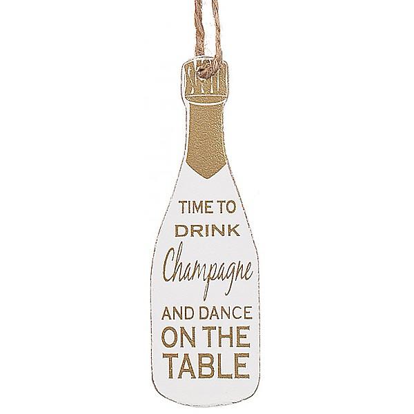 Champagneflaska Tag Guld kork - Time to drink Champagne