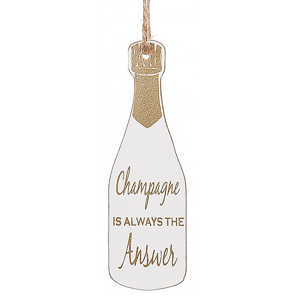 Champagneflaska Tag Guld kork - Champagne is always the answer