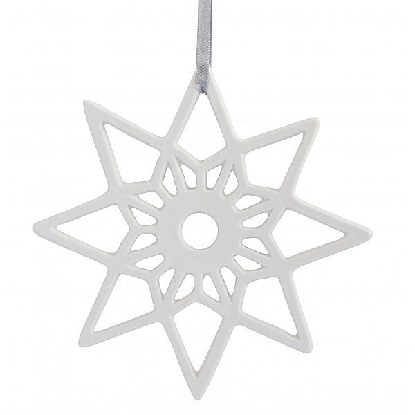 Keramikhänge Stjärna - Vit