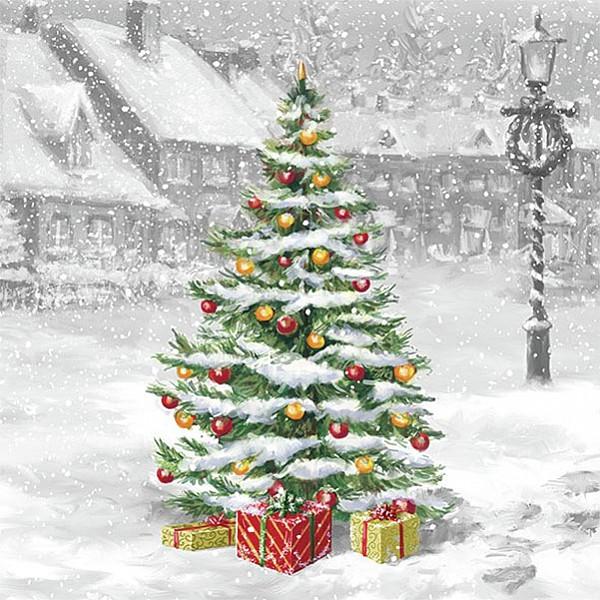 Servetter Tree On Square