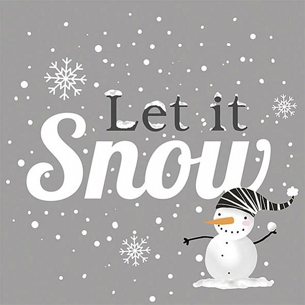 Servetter Snowball Snowman Silver