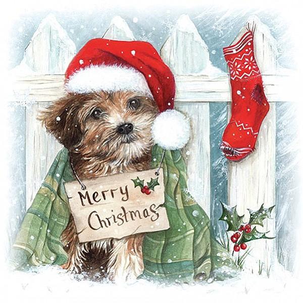 Servetter Christmas Puppy