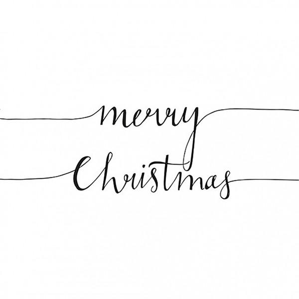 Servetter Christmas Note White