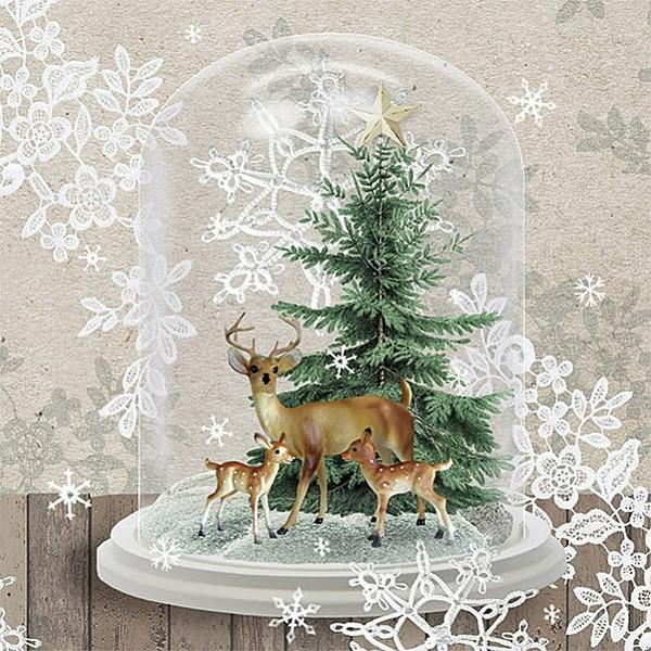 Servetter Deers In Glassbell