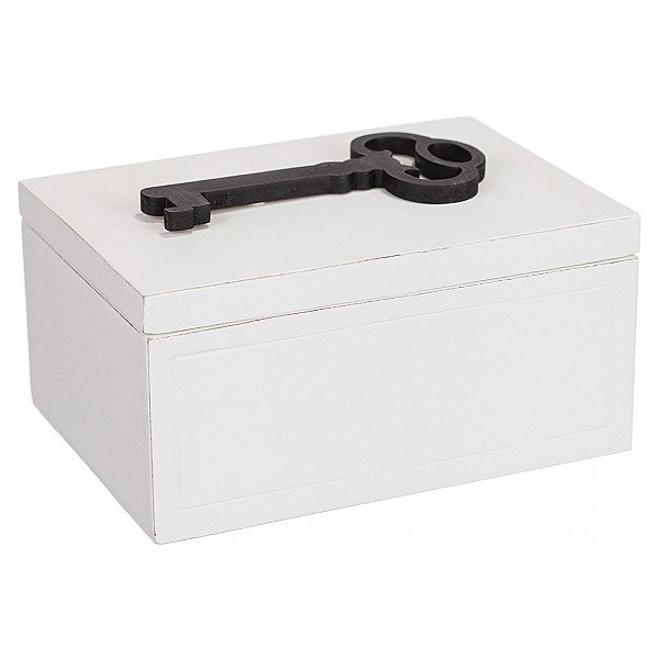 Wooden Key Box Key - White