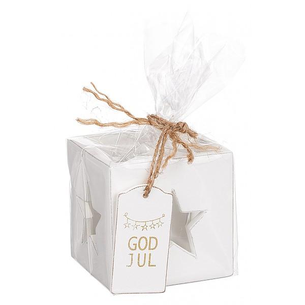 Ljuslykta Stjärna God Jul - Guld