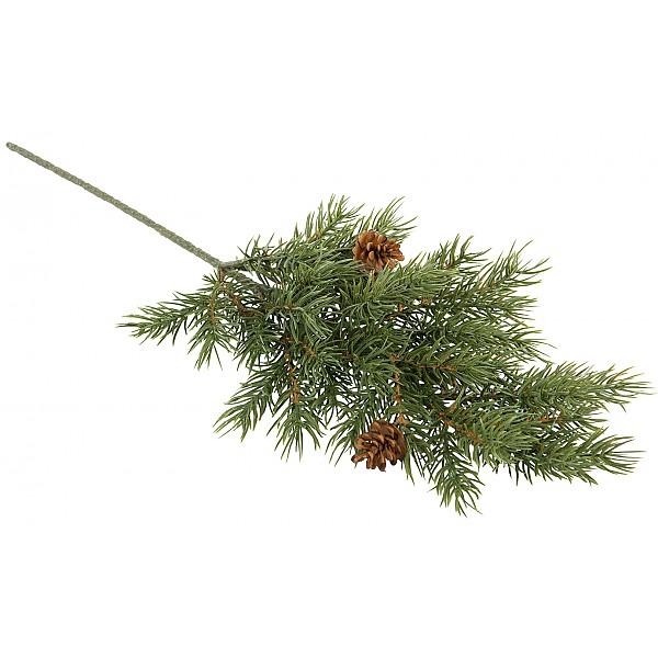 Grankvist med kottar Grön - 46 cm