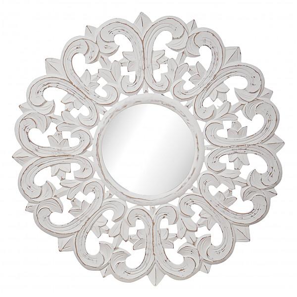 Spegel CARVE Lilja Rund 60 cm - Vit